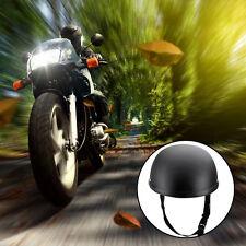 Beanie Half Novelty Harley Motorcycle Helmet Skull Cap Flat Black Skid Lid