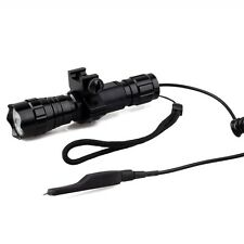 Waterproof T6 LED Torch Tactical Flashlight For AR Picatinny Quad Rail rifle gun