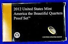 2012  U.S. Mint CLAD America the Beautiful Quarters Proof Set.