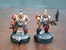 Necromunda GOLIATH GANGERS (2) Painted Warhammer Games Workshop GW A