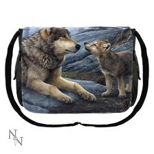 Nemesis Now Messenger Bag featuring Brother Wolf design