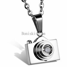 Charm Photographer Camera Men's Women's Pendant Necklace Stainless Steel Chain