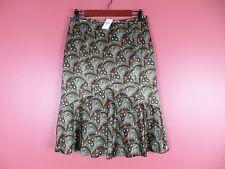 SK08188-NWT ANN TAYLOR LOFT Woman Silk Paneled Skirt Multi-Color Floral Sz 4 $69