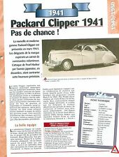 PACKARD CLIPPER  1941 1941 USA  Car Auto FICHE FRANCE