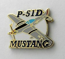 P-51 D USAF MUSTANG FIGHTER BOMBER AIR FORCE AIRCRAFT LAPEL PIN BADGE 1.5 INCHES