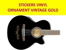ORNAMENT GUITAR VINTAGE GOLD STICKER VISIT OUR STORE WITH MANY MORE MODELS