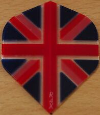 "5 Sets (5X3) ""Union Jack+Clear"" R4X Extra Strong Ruthless Dart Flights"