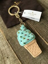 "KATE SPADE NEW YORK ""LEATHER ICE CREAM"" FLAVOR THE MONTH FOB KEY RING/CHAIN, NWT"