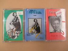 Three Patsy Cline cassettes, country and western