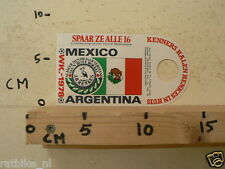 STICKER,DECAL WK ARGENTINA 1978 VOETBAL,SOCCER JH HENKES MEXICO B