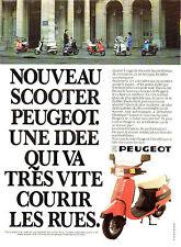 Publicité 1980  Scooter PEUGEOT 50 cm3