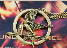 THE HUNGER GAMES COLLANA GHIANDAIA IMITATRICE MOCKING BIRD NECKLACE LOGO BRONZO