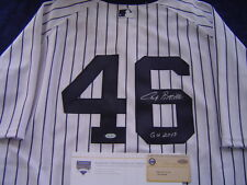 NEW YORK YANKEES ANDY PETTITTE GAME USED SIGNED INSCRIBED 2013 GU JERSEY STEINER