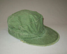 Old Vtg WWII 1940's USMC Fatigue Hat Cap Worn Great Stage Movie Prop