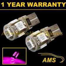 2X W5W T10 501 CANBUS ERROR FREE PINK 5 LED SIDELIGHT SIDE LIGHT BULBS SL101304