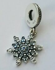 Genuine Pandora Crystallised Snowflake Dangle Charm S925 Ale