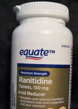 "EQUATE MAX STRENGTH RANITIDINE 150mg ""ACID REDUCER""  65 TABLETS JUNE 2017"