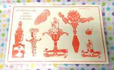 Anima Rubber stamp sheet Collage Art stamps Shrine offbeat Bizarre unusual unm