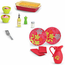 American Girl MY AG DELICIOUS DINNER 9 PIECE Set Lasagna Cook Dining Plates NEW