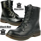 GIRLS WOMENS LEATHER ANKLE DR DOC BOOTS CLASSIC 7 EYELET PUNK SHOES SIZE 3-8