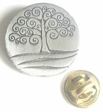 "CELTIC TREE DESIGN ""Celtic Designs"" Hand Made in the UK Pewter Pin Badge"
