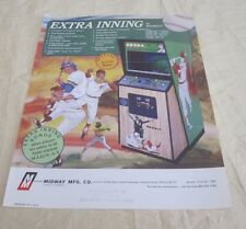 1978 MIDWAY EXTRA INNING VIDEO FLYER