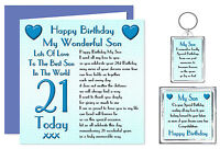 21st Son Happy Birthday Gift Set - Card, Keyring & Magnet 21 Today Lots Of Love