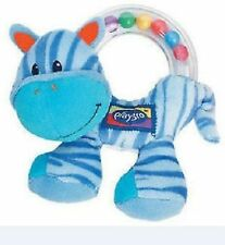 baby intelligence Training Playgro Blue Zebr Hand grasp bell Plush soft toy forb