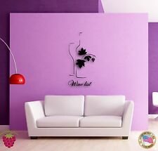 Wall Sticker Vine Wine List Bottle of Wine Cool Modern Decor for Bar z1362
