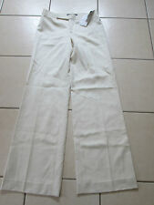 "RALPH LAUREN SIZE (4) UK SIZE 8 ? 34"" LEG CREAM 100% WOOL TROUSERS NEW WITH TAGS"