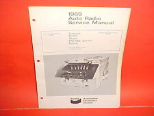 1969 FORD GALAXIE 500 500XL CONVERTIBLE LTD BENDIX AM-FM RADIO SERVICE MANUAL 69