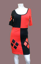 New LADIES Dc Comics batman HARLEY QUINN fitted Dress SUICIDE SQUAD - MEDIUM