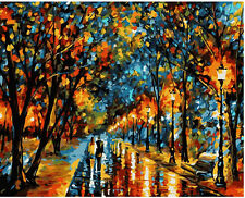 """DIY Paint By Number 16""""*20"""" Kit Fall In Love On Canvas With Nice Box"""