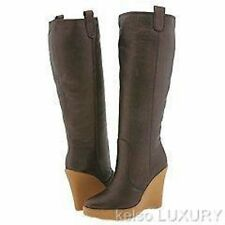 $895 NEW BALLY US 11 EUR 41.5 Leather Sheepskin Line Wedge Knee High Boots Shoes