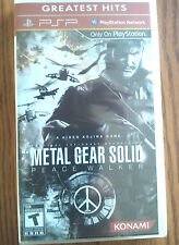 Metal Gear Solid Peace Walker for PSP Portable Factory Sealed! Brand New!