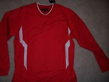 MENS MEDIUM-UNDER ARMOUR-RED WIND/WATER RESISTANT ALL SEASON GEAR SHIRT - NWT