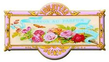 French Advertising Perfume Soap Sign - Toilet Roses