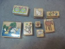 Rubber Stamps LOT OF 8 STAMPS DIFFERENT ANIMAL THEMES
