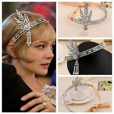 Bridal Great Gatsby 1920s Vintage Style Headpiece Pearls Charleston Headband New