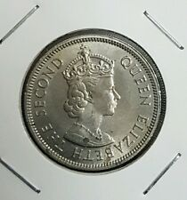 1961 20cents cent malaya British Borneo queen  ori condition luster unc*