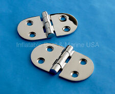 "2 Each Boat Hinge -Cabinet Hatch Locker Butt 2 7/8"" Rounded-Marine 316 Stainless"