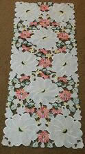 """New 15""""x34"""" Embroidered  Floral Table Dining Runner TableClothes Cutwor Mats"""
