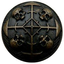 10 Zierniete CIRCLE OF SKULLS AM Gürtel Gothic Halsband Vintage LARP Heraldik
