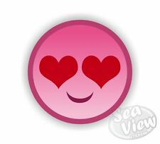 Pink Smiley Face Heart Girl Car Van Sticker Stickers Decal Funny Sticker