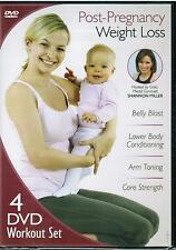 New Post-Pregnancy Weight Loss Exercise Fitness Workouts 4-Disc Set 2012 DVD