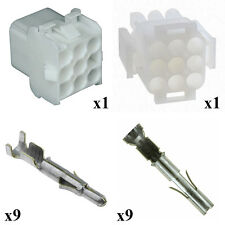 KIT CONNECTOR HOUSING AND TERMINAL UNIVERSAL MATE N LOK MALE FEMALE 9 WAY