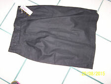 DIANA MARCO BRAND BLACK NWT A-LINE SKIRT SIZE 14 ( RUNS SMALL) COTTON/RAMIE