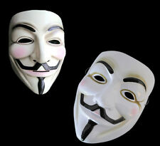 Cool BLANC V pour Vendetta Anonymous Film Adulte Mec Masque Noël Cosplay NEUF