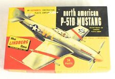 Vintage North American P-51D Mustang Plastic Model Airplane Kit No. 409:29