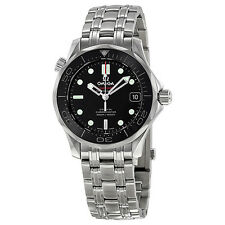 Omega Seamaster Automatic Black Dial Stainless Steel Mens Watch 21230362001002